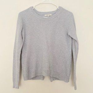 Madewell XXS Waffle Knit Pullover Sweater Gray